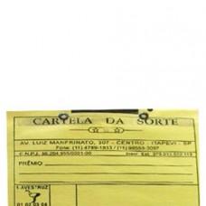 Cartela de Rifa 25 com nome de bichos numeros.
